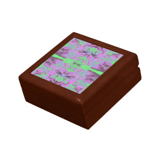 Fern Leaf Mauve/Gr Fractal Gift Box Golden Oak Sml