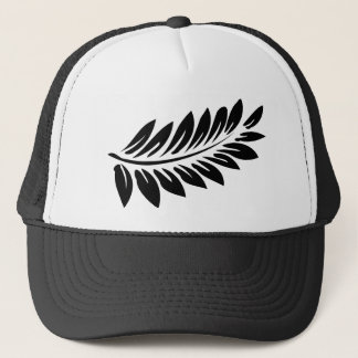 Fern leaf trucker hat