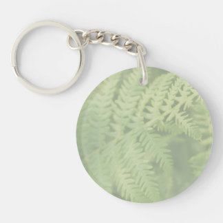 Fern Leaves, Light Green. Key Ring
