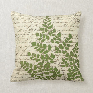 Fern on Script Pillow 2