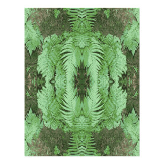 Fern Pattern Graphic. Green. Personalized Flyer