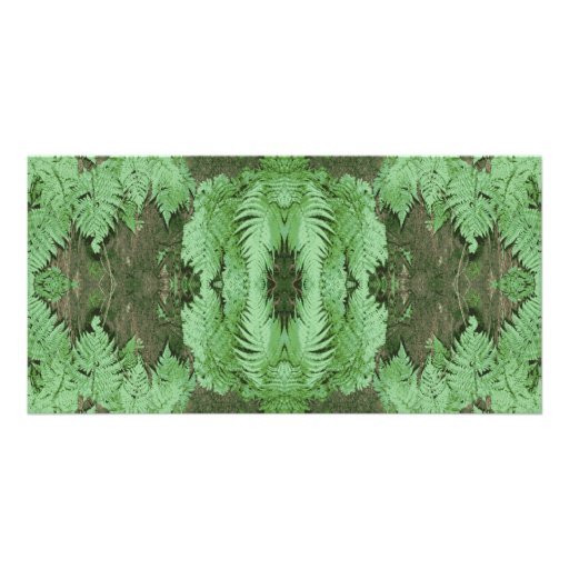 Fern Pattern Graphic. Green. Photo Card Template