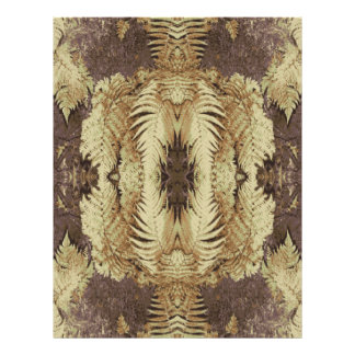 Fern Pattern Graphic Khaki and brown Personalized Flyer
