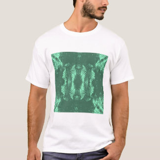 Fern Pattern in Green. T-Shirt