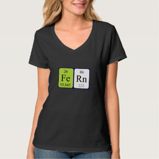 Fern periodic table name shirt