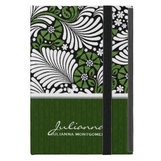 Fern Print in Green and White iPad Mini Cases