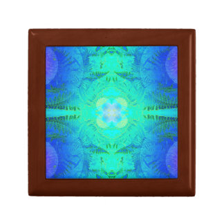 Fern Turq/Blue Fractal Gift Box Golden Oak Sml