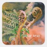 Fern Unfurling Watercolor Fine Art Stickers