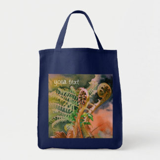 Fern Unfurling Watercolor Fine Art Tote Bag