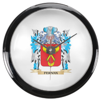 Fernan Coat of Arms - Family Crest Fish Tank Clocks