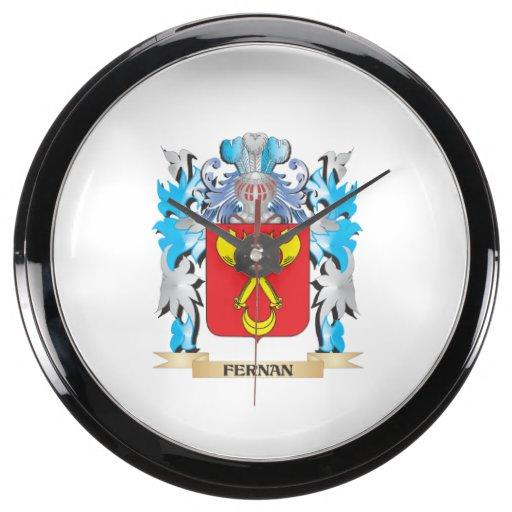 Fernan Coat of Arms - Family Crest Aquarium Clock