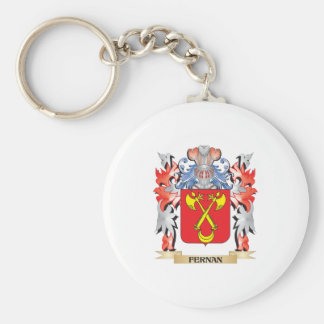 Fernan Coat of Arms - Family Crest Basic Round Button Key Ring