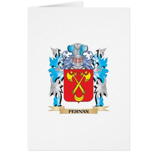 Fernan Coat of Arms - Family Crest Card