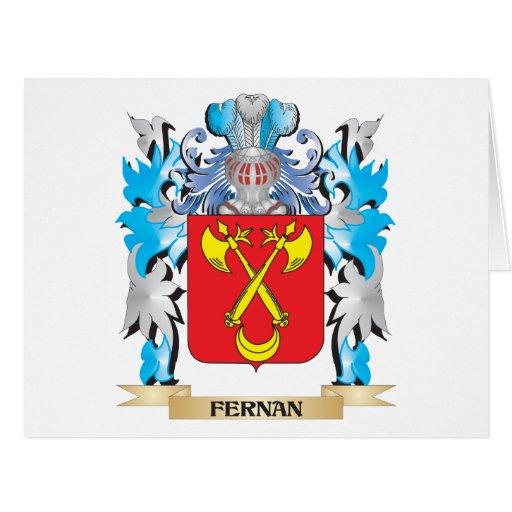 Fernan Coat of Arms - Family Crest Card