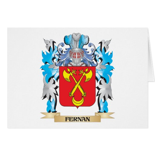 Fernan Coat of Arms - Family Crest Greeting Card