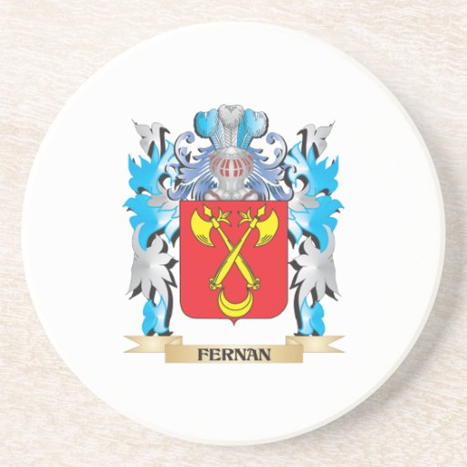 Fernan Coat of Arms - Family Crest Drink Coaster