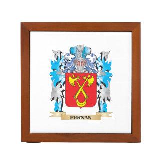 Fernan Coat of Arms - Family Crest Desk Organisers