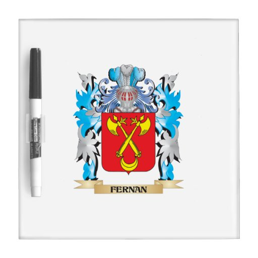Fernan Coat of Arms - Family Crest Dry Erase Whiteboards