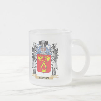 Fernan Coat of Arms - Family Crest Frosted Glass Mug