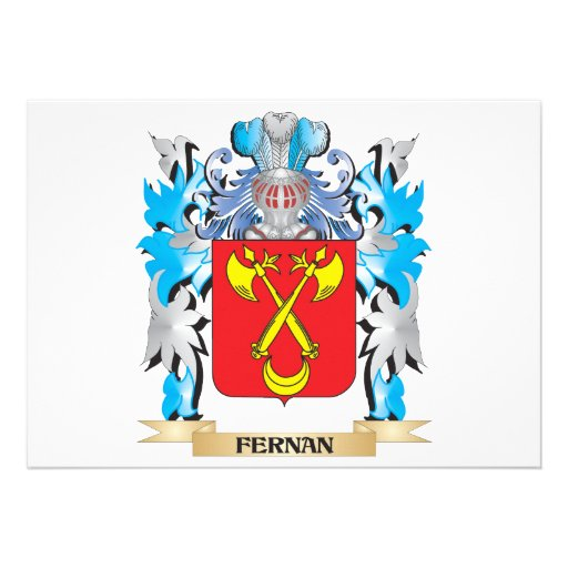 Fernan Coat of Arms - Family Crest Custom Announcements