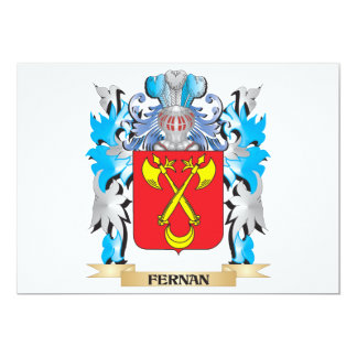 Fernan Coat of Arms - Family Crest 13 Cm X 18 Cm Invitation Card