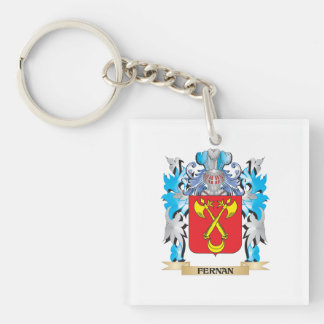 Fernan Coat of Arms - Family Crest Single-Sided Square Acrylic Key Ring