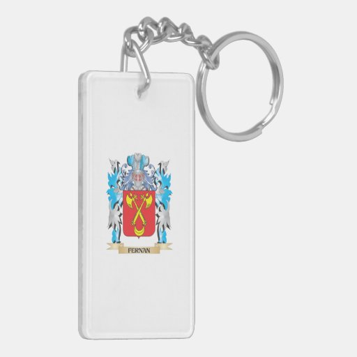 Fernan Coat of Arms - Family Crest Rectangle Acrylic Key Chain