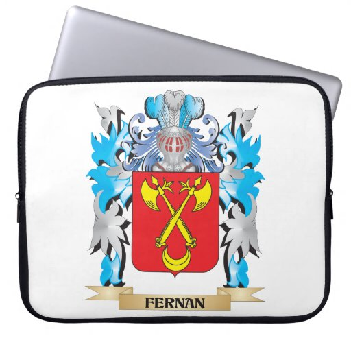 Fernan Coat of Arms - Family Crest Computer Sleeves