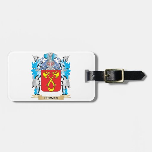 Fernan Coat of Arms - Family Crest Bag Tag