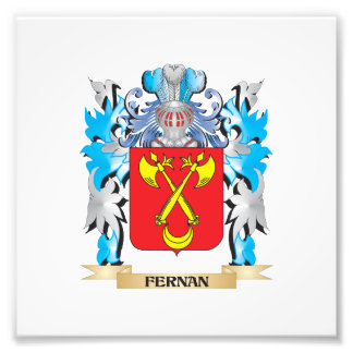 Fernan Coat of Arms - Family Crest Photographic Print