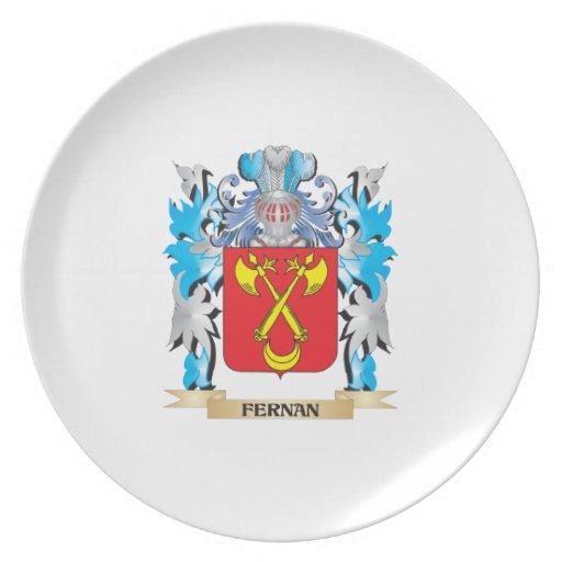 Fernan Coat of Arms - Family Crest Dinner Plate