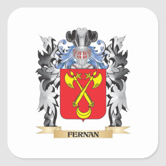 Fernan Coat of Arms - Family Crest Square Sticker