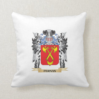 Fernan Coat of Arms - Family Crest Throw Cushion