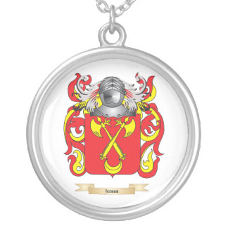 Fernan Coat of Arms Round Pendant Necklace