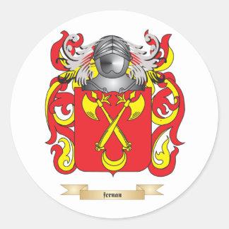 Fernan Coat of Arms Round Sticker