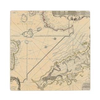 Fernand de Noronha Island Wood Coaster