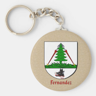 Fernandez Heraldic Shield Keychain