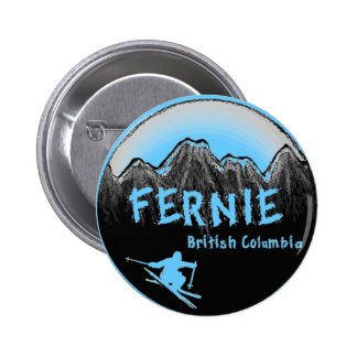 Fernie British Columbia Canada ski 6 Cm Round Badge