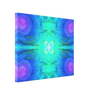 Ferns Blue Fluid Fractal Canvas Print