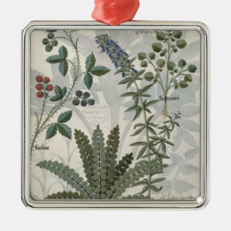 Ferns, Brambles and Flowers Christmas Ornament