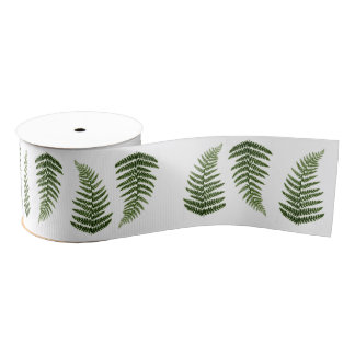 Ferns Grosgrain Ribbon