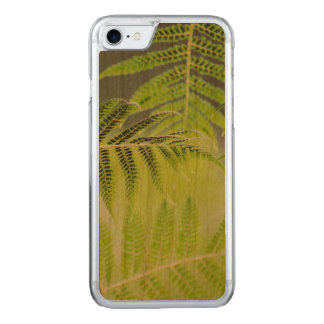 FERNS on wood Carved iPhone 7 Case