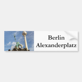 Fernsehturm and Neptunbrunnen in Berlin, Germany Bumper Sticker