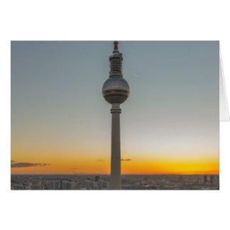 Fernsehturm Berlin, Berlin TV Tower, Germany Greeting Card