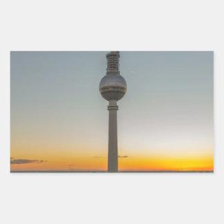 Fernsehturm Berlin, Berlin TV Tower, Germany Rectangular Sticker