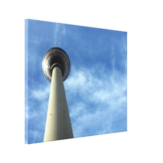 fernsehturm berlin stretched canvas prints