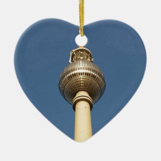 Fernsehturm Berlin Ceramic Heart Decoration
