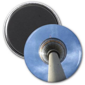 fernsehturm round 6 cm round magnet
