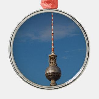 Fernsehturm Television Tower Alexanderplatz Berlin Silver-Colored Round Decoration