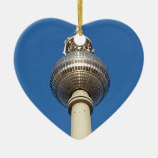 Fernsehturm Television Tower Berlin Ceramic Heart Decoration